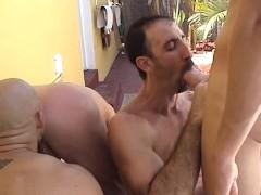 2 Dirty females caressing python inside an inviting three some
