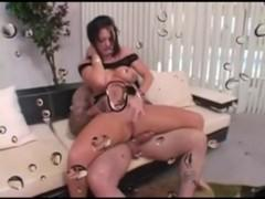 German tattooed busty mature woman fucked by young man
