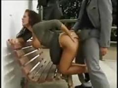 Busty german girl fucked in the street